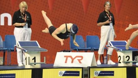 Annabel Guye-Johnson clinches 100m Breaststroke gold