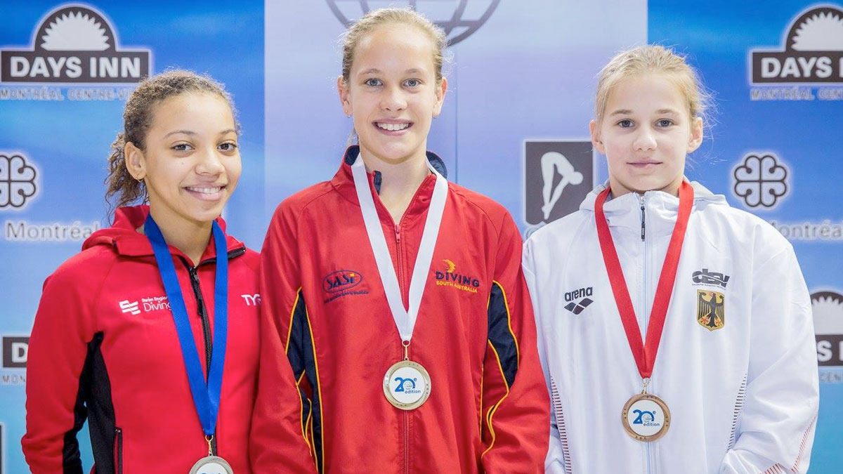Richelle Houlden won silver in the Group C 3m Springboard at the 2017 CAMO Invitational in Montreal.