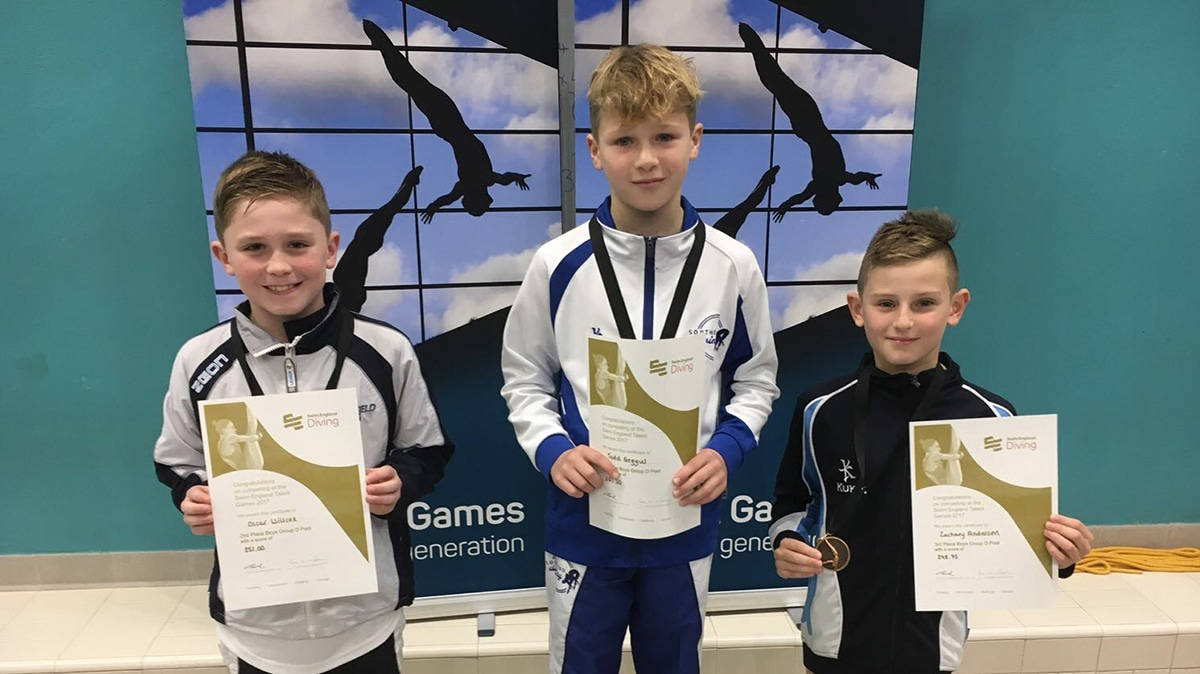 Swim England Diving Team Z selected from Talent Games