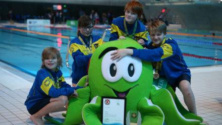 Hundreds of children compete at Panathlon swim event