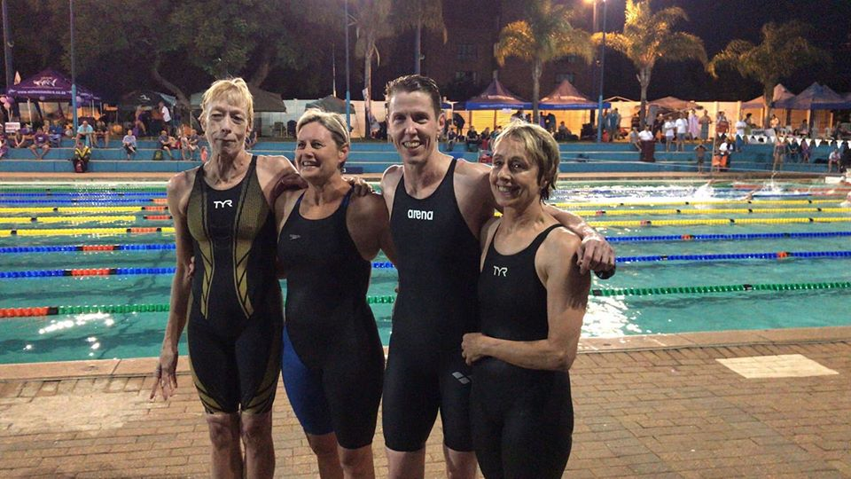Masters relay swimmers at the South African Masters Championships
