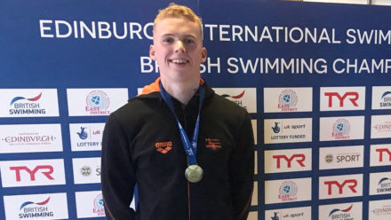 Lewis Burras wins British 100m Free title in Edinburgh