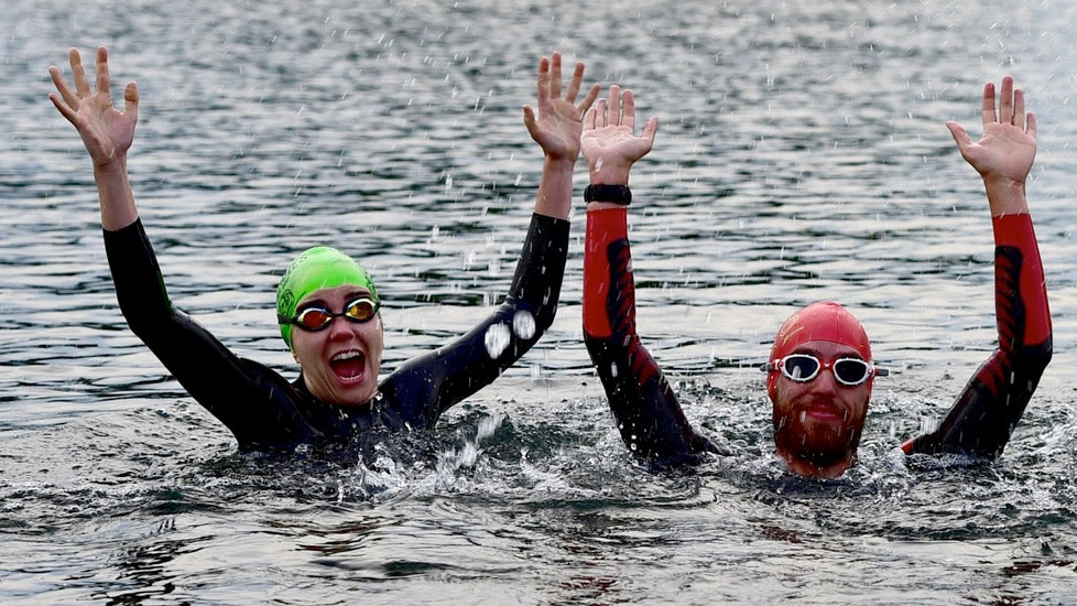 Open water sessions with England Talent coach