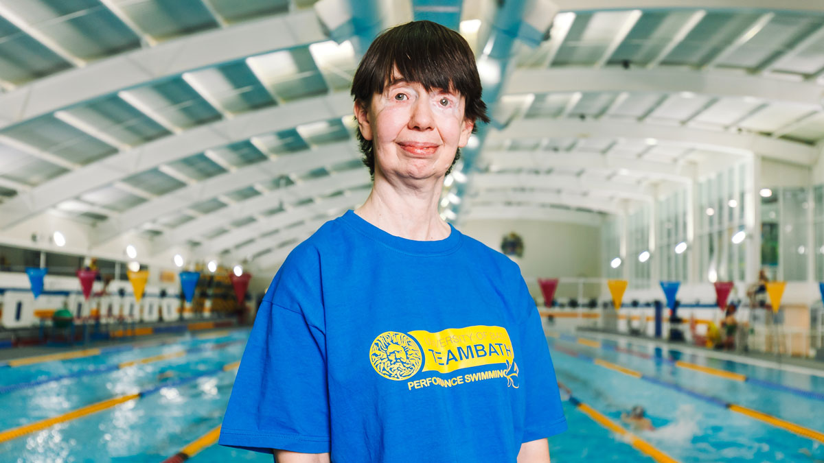 Team Bath AS swimming volunteer Karen Bowen