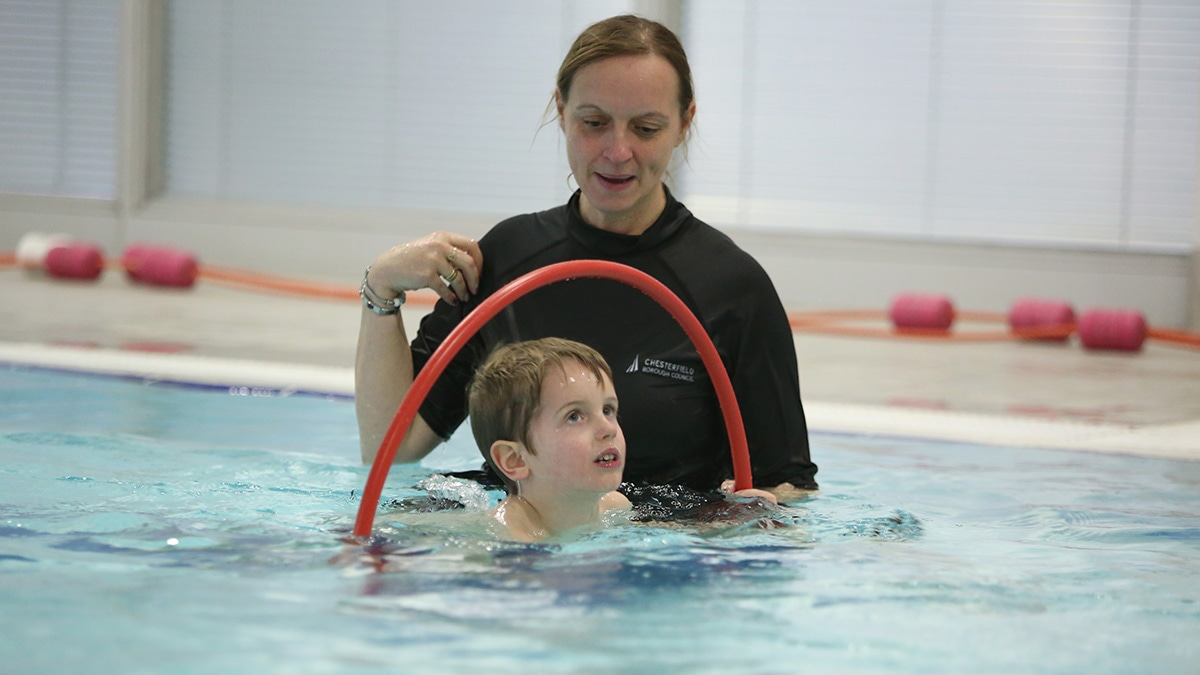 Swimming lessons for children with autism