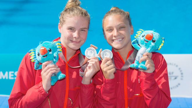Blagg and Torrance win synchro silver in 2018 Commonwealth Games