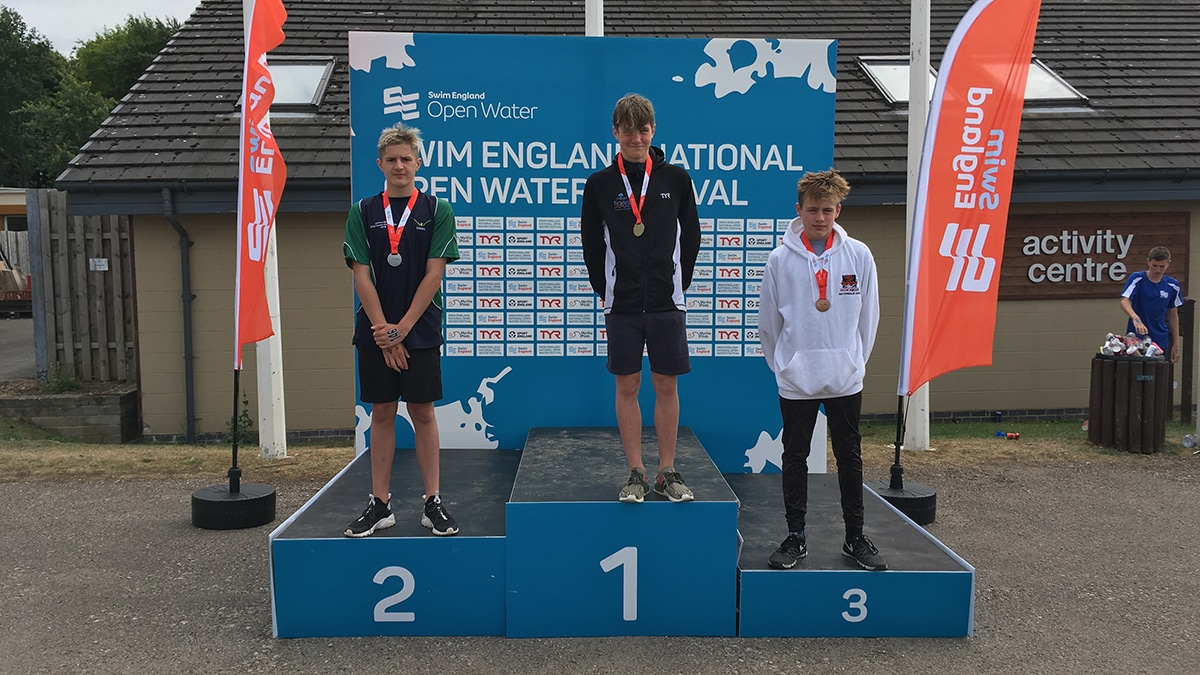 National Open Water Festival Boys 14 Years medallists
