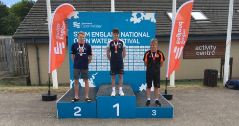 National Open Water Festival Boys 15 years medallists