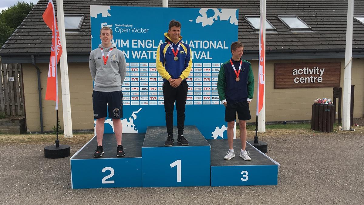 National Open Water Festival Boys 16 Years 5K race medallists