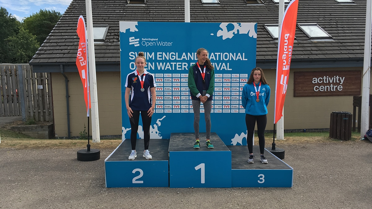 National Open Water Festival Girls 14 Years medallists