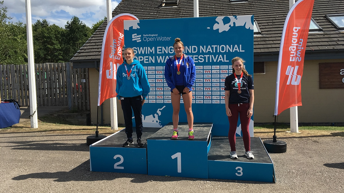 National Open Water Festival Girls 15 Years medallists
