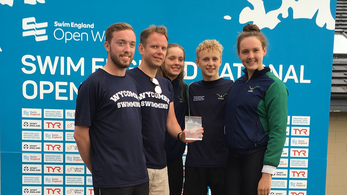 Wycombe District Swimming Club won the National Open Water Festival Top Club trophy