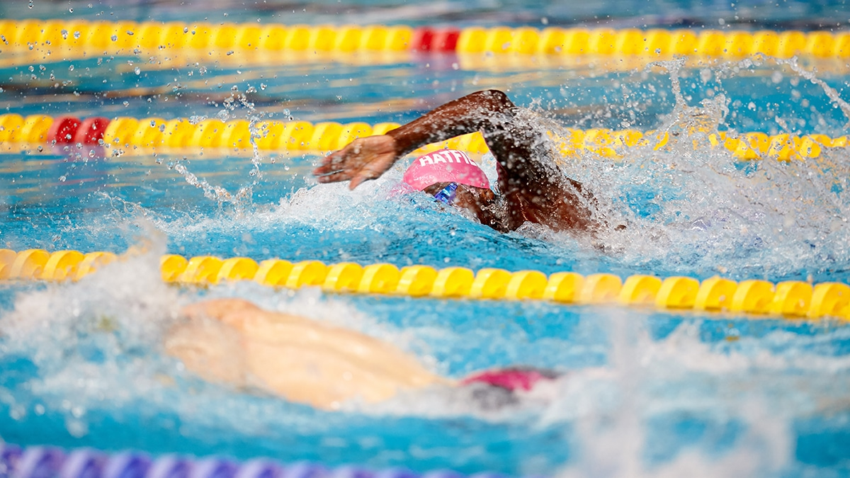 Ayotobi Laguda won gold in the Men's 16 Years 100m Freestyle at the Swim England national Summer Meet 2018