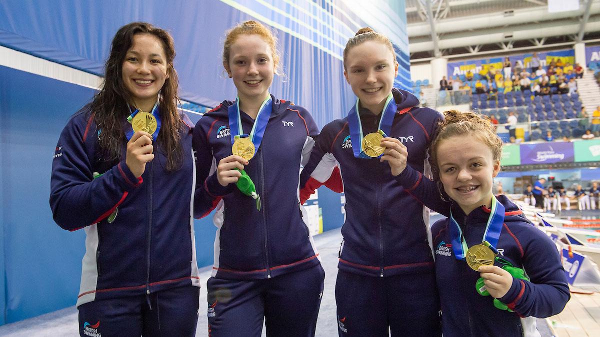GB's Para-Swimming Medley Relay quartet at Dublin 2018 Europeans