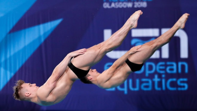 Laugher and Mears bring home synchro silver at Glasgow 2018