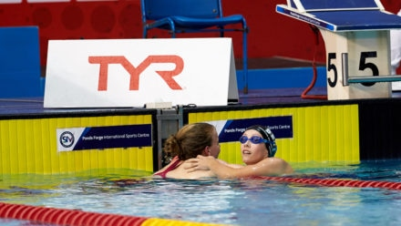 Dead heat as Jennifer fights back to share gold in 200m Individual Medley