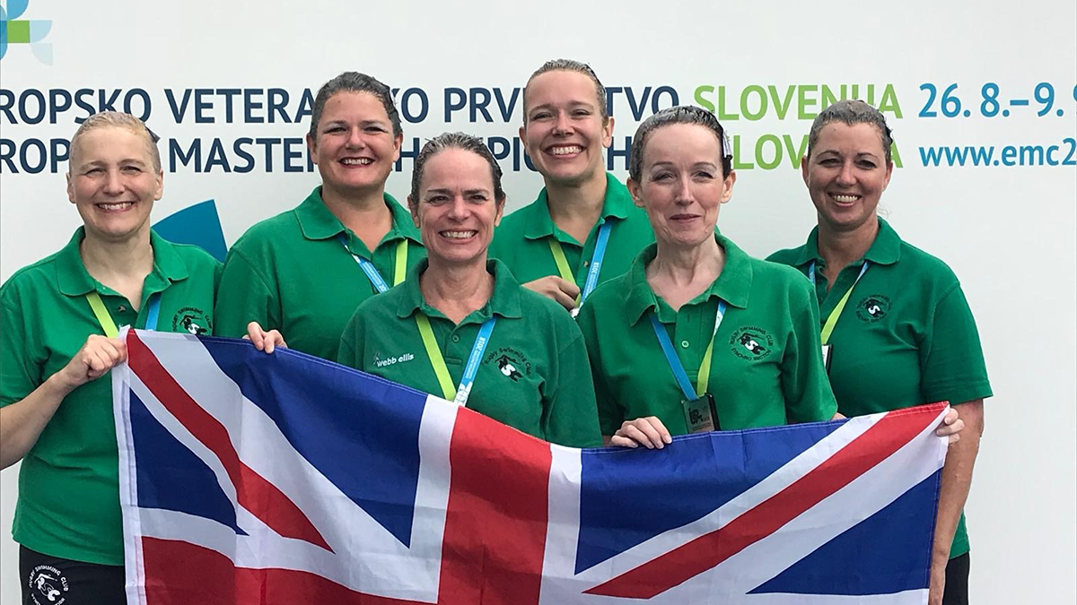 Rugby combo team at LEN European Masters Synchro Championships 2018