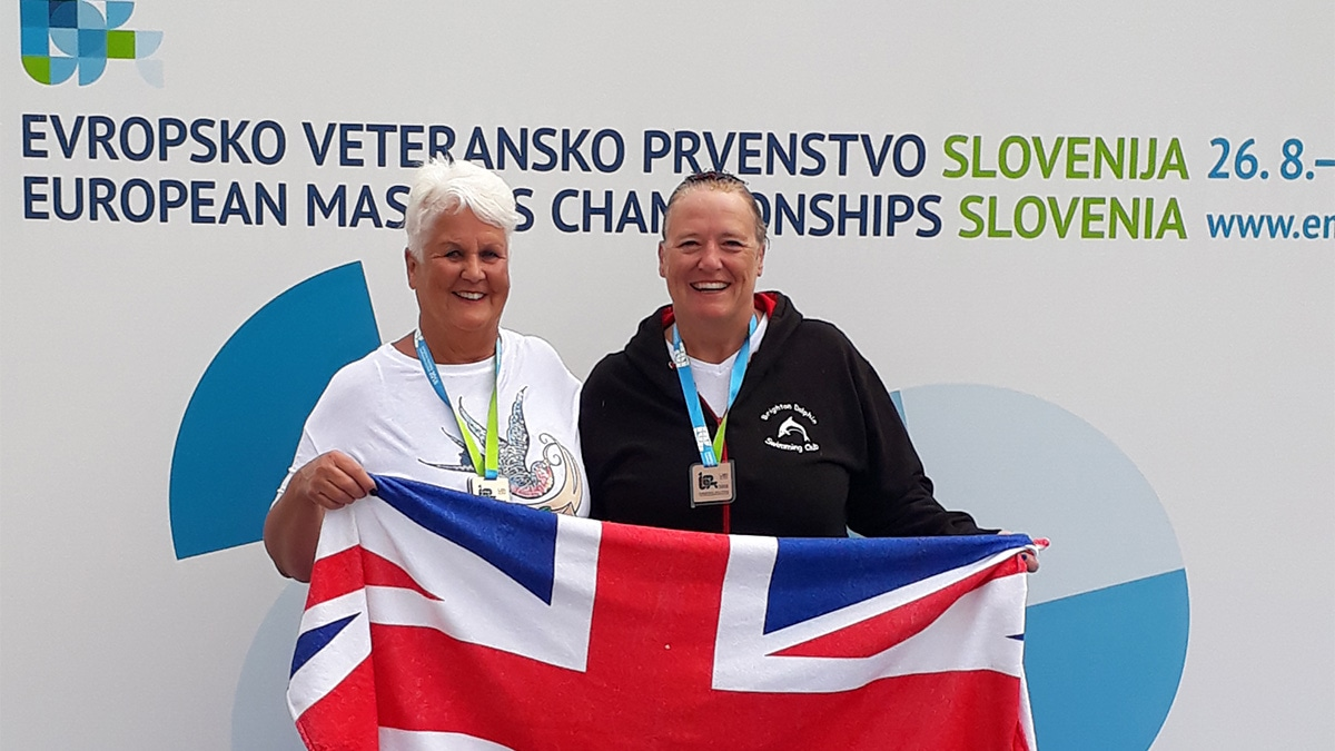 Two synchro medal winners at LEN European Masters Champs 2018