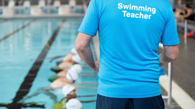 Career change adds up for swimming teacher Garry