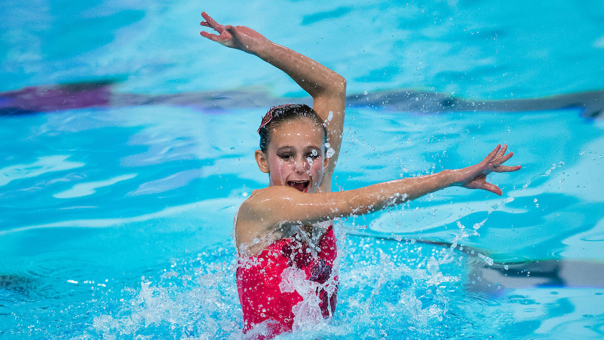 Mimi Gray performing her Solo routine from the 2014 National Age Group Synchronised Swimming Championships