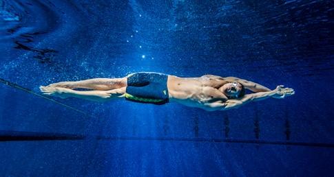 Man swimming. New Swimfit website launches.