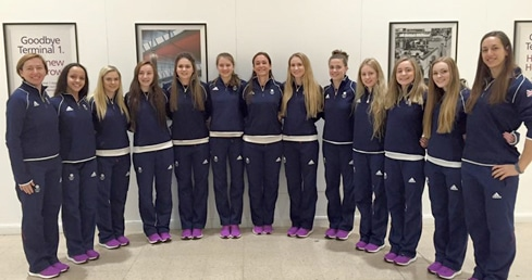 England Talent synchro swimmers land in Baku for European Games