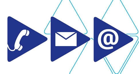 Letter, @ and phone images. Used on contact details page and meet the team on website.