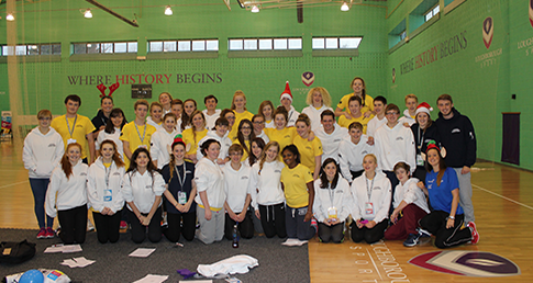 Youth participants from the National Talent Camp 2014 at Loughborough University.