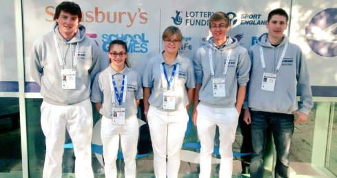 Young officials take part as volunteers at the School Games 2015