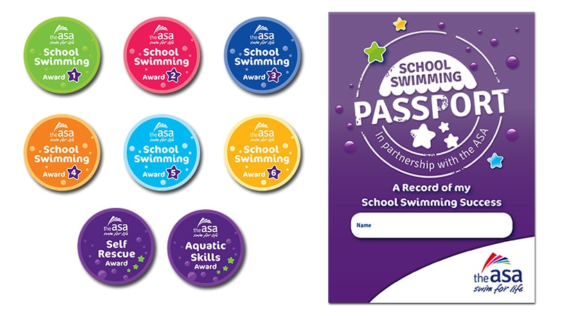 School swimming awards school swimming badges for Asa swimming lesson plan template
