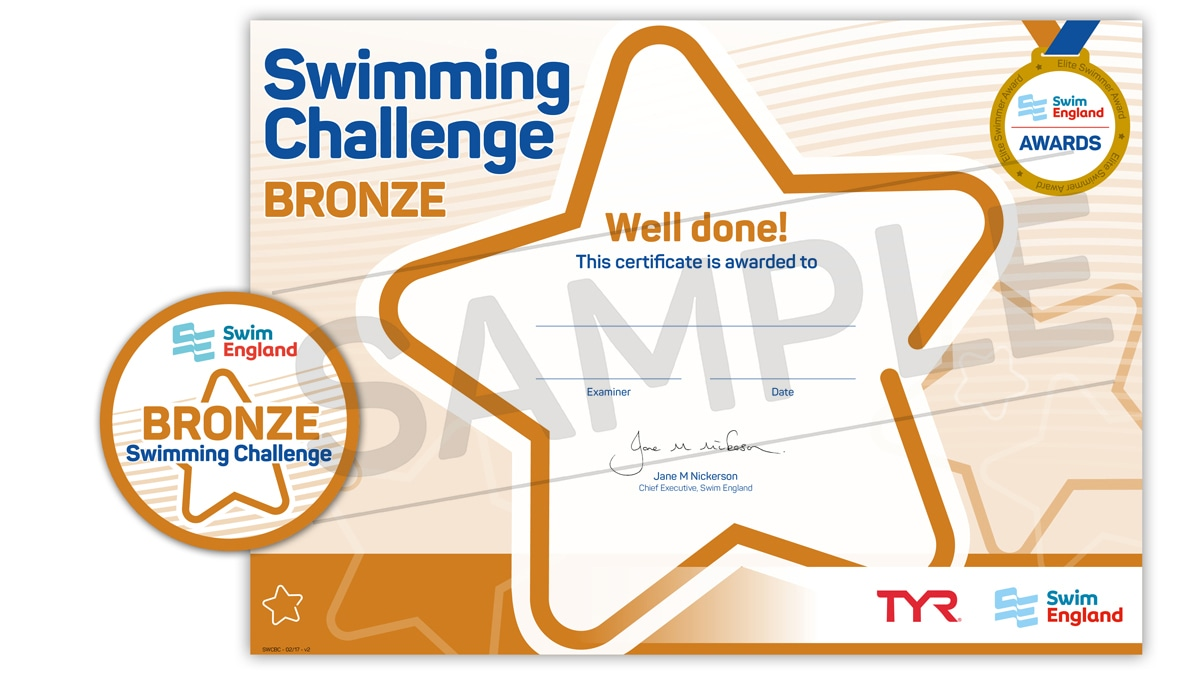 Swim England Swimming Challenge Awards Learn To Swim Awards