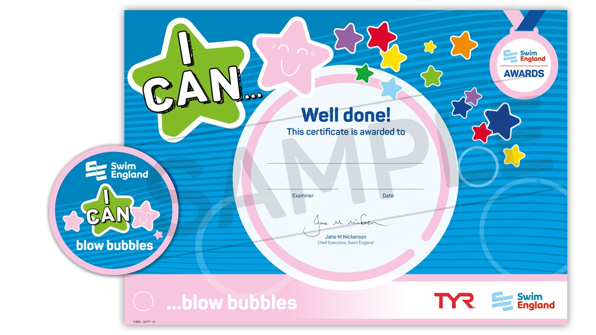 I CAN ... blow bubbles | Swim England I CAN Awards