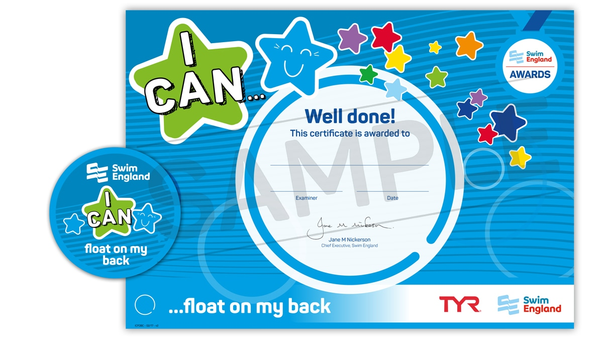 I CAN ... float on my back | Swim England I CAN Awards
