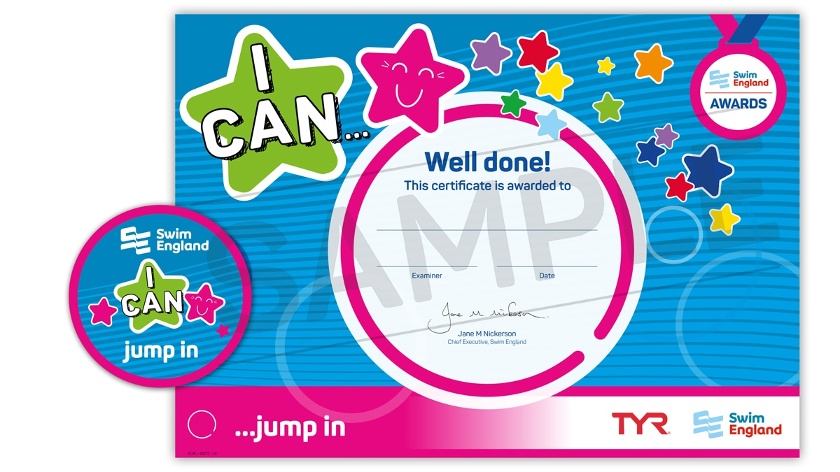 I CAN ... jump in | Swim England I CAN Awards