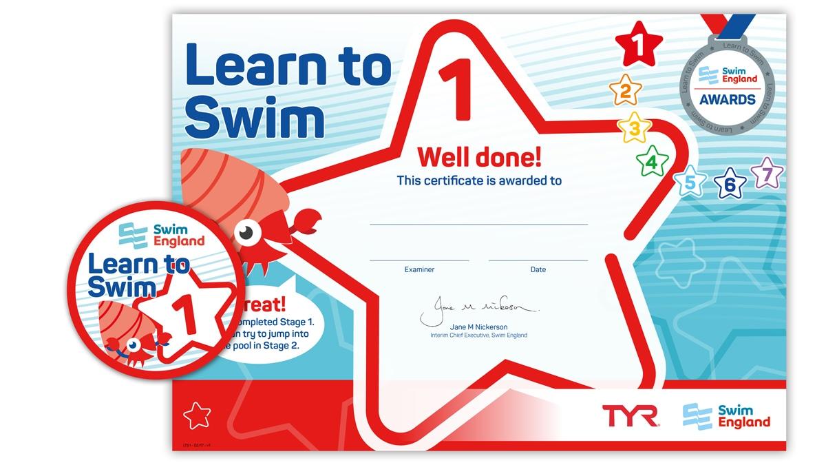 Learn to Swim Awards 1-7