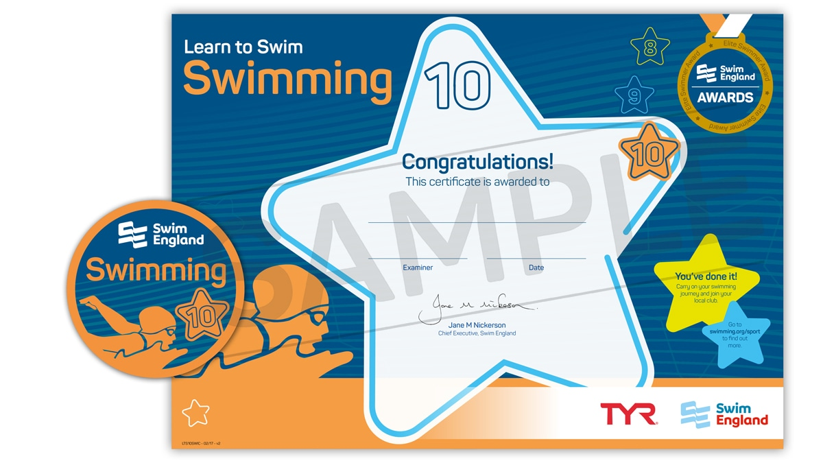 Learn to Swim Stages 8-10 Awards