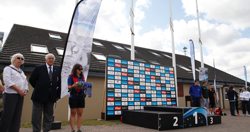 Swim England National Open Water Results. Picture of a podium at open water