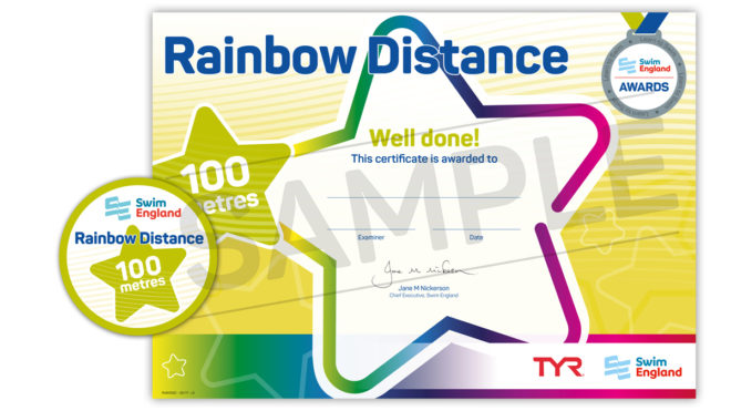 Rainbow Distance Awards. Certificate and badge.