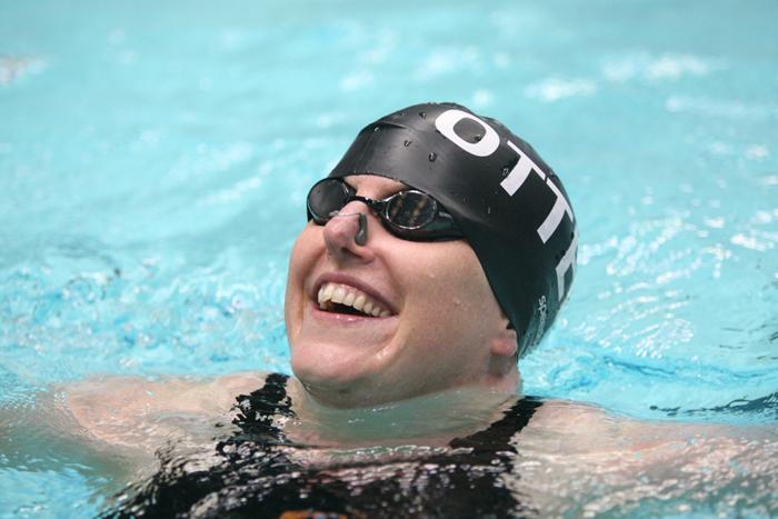 Gina Hobson Masters swimmer. Lane rope romance blog