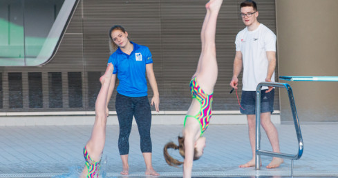 Image of young diving coaches. Used for Community Sport and Recreation Awards 2016 nominations story.