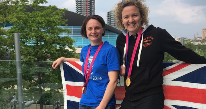 Helen Gorman and Nicola Latty at London 2016 European Masters Championships