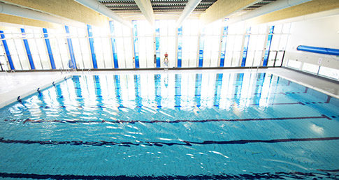 East Manchester Leisure Centre. Used for case study Swimming with dementia in Manchester.