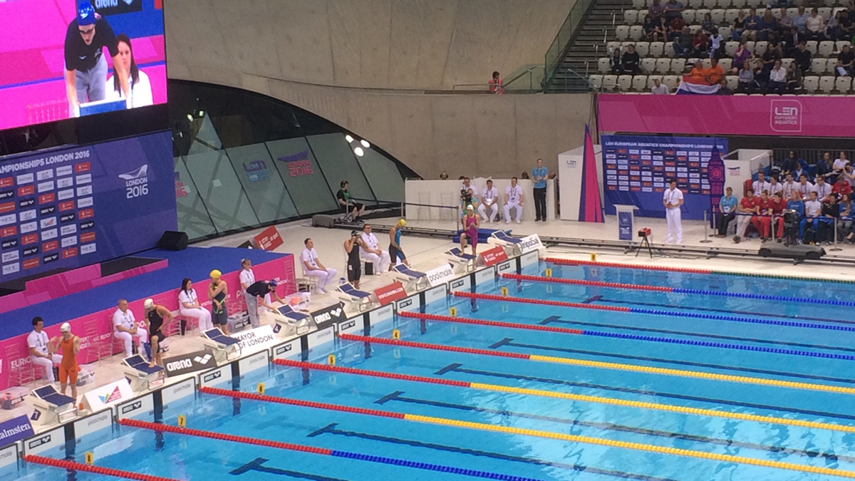 Surrey Masters swimmer serves main course at European Champs