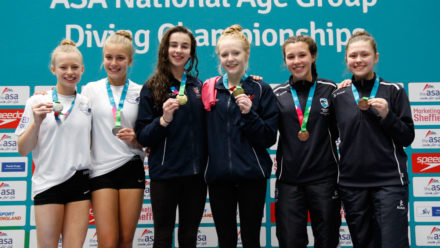 Three medals for Southampton on day one of NAG Diving 2016
