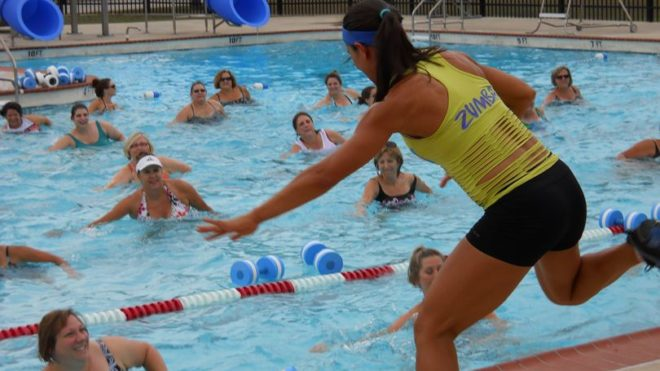 Aqua Zumba, the get fit pool party