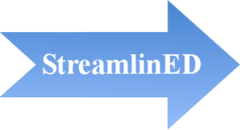 Streamlined logo. Used for StreamlinED courses.