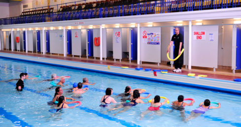 Swimming teacher in an adult lesson. Used for ASA Educator and Approved Centre Conference 2016