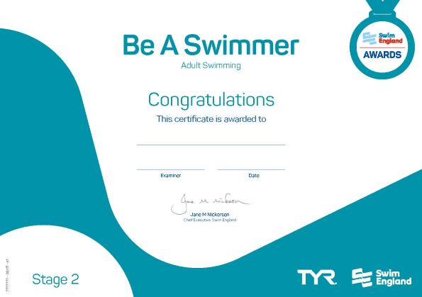 Be a Swimmer | Adult Swimming Awards