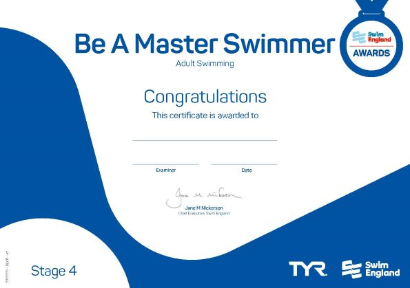 Be a Master Swimmer | Adult Swimming Awards