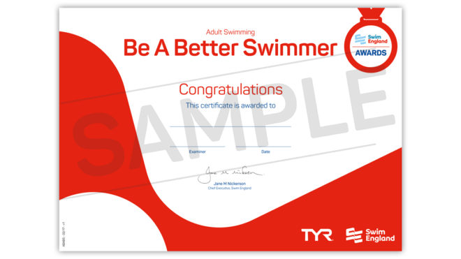 Adult Learn to Swim Awards